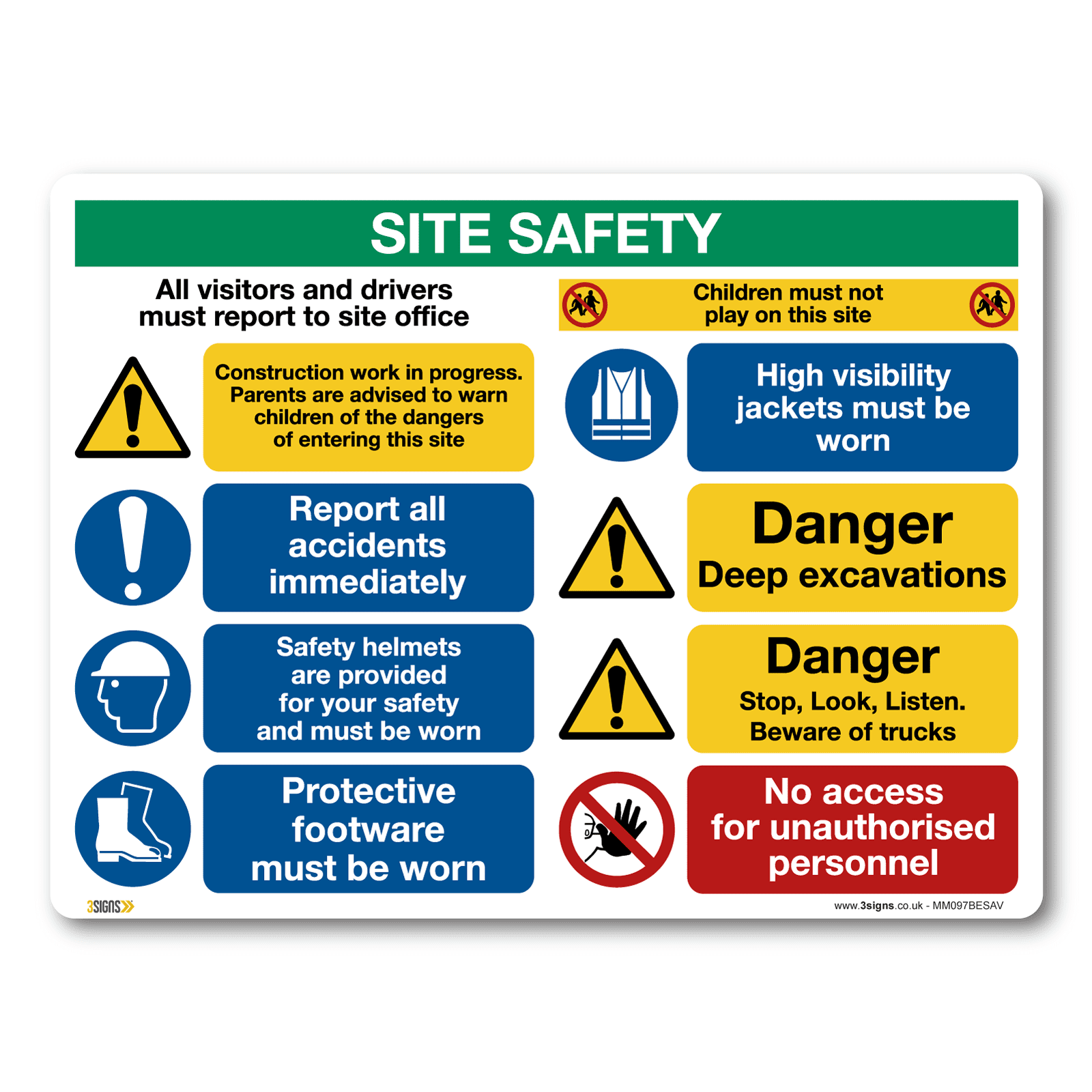 Construction Site Boards: Construction Site Safety Signs And Stickers