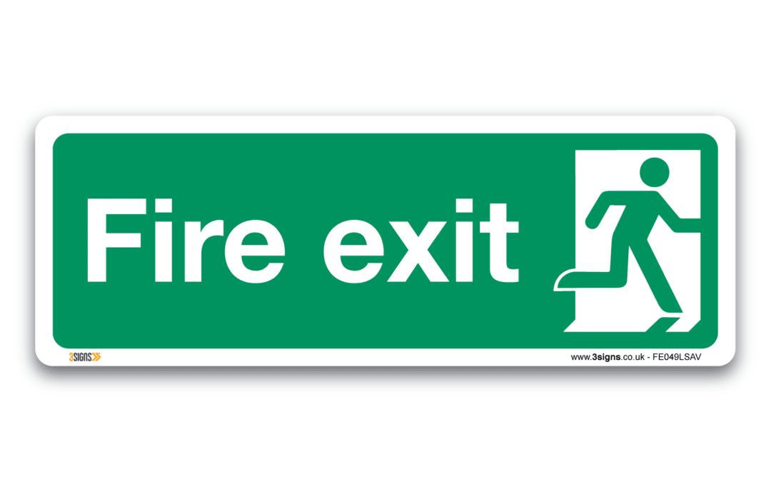 Fire exit – man right