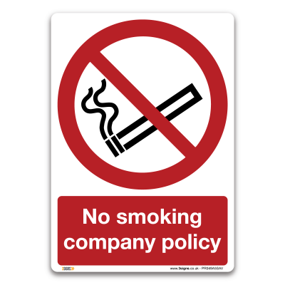 No smoking company policy A5 Sticker